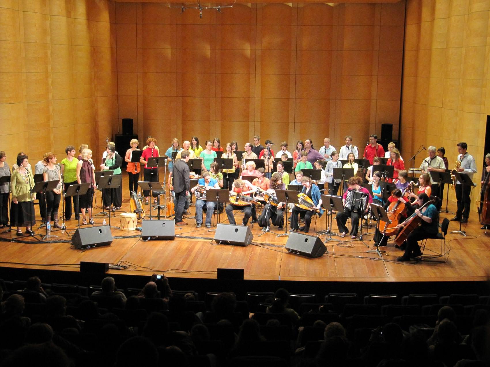 2010 – Création avec l'ensemble de clarinettes « Couac boum fruh »