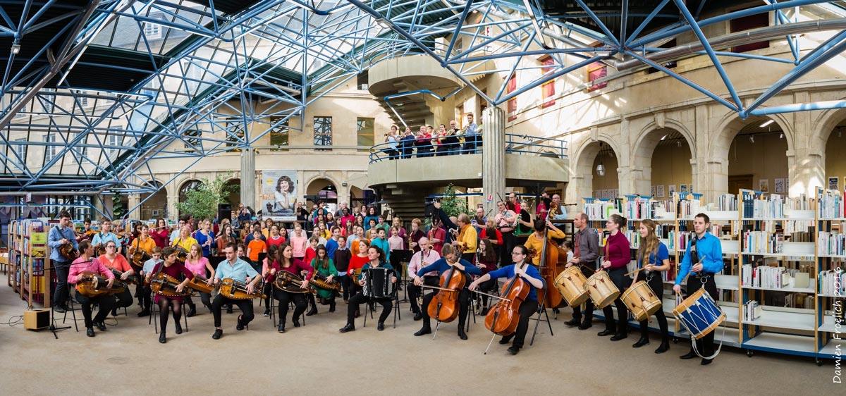 Flashmob au Conservatoire de Nevers - 11/2016