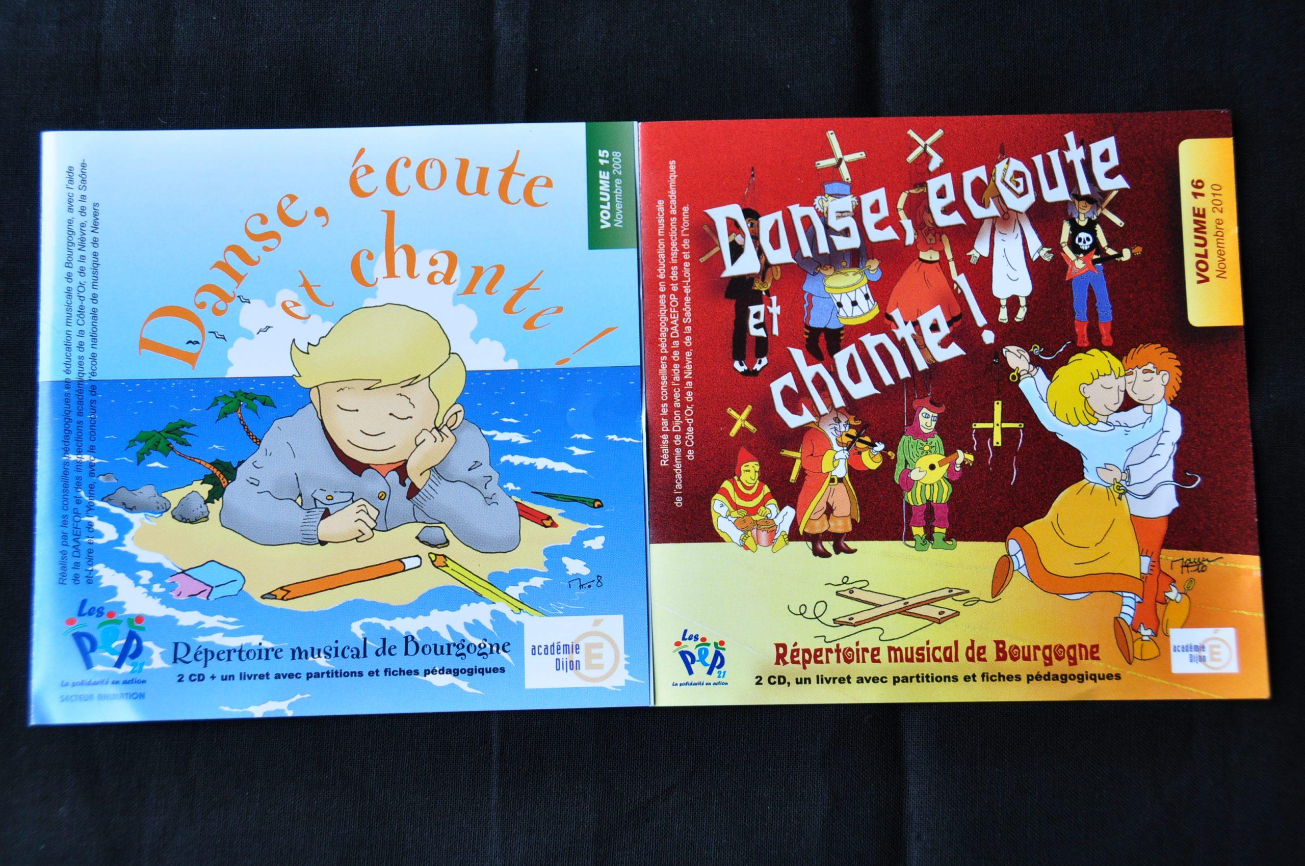 2008 et 2010 - « Danse, écoute, chante »Réalisés par les Conseillés Pédagogiques de l'Éducation Nationale de Bourgogne Prod. ADPEP 21